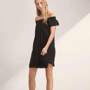 Aritzia Talula Horatio Black Off Shoulder Dress